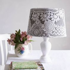 Follow this simple guide to learn how to make a latticed homemade lampshade.