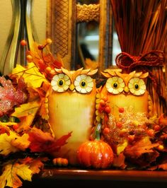 The Tuscan Home: Let's Talk Pumpkins Fall Mantelscape