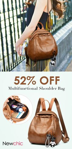 Women Soft Leather Plaid Multifunctional Backpack Leisure Shoulder Bag  shows femininity. Shop on NewChic and buy yourself the best women backpack. 584105cea2117