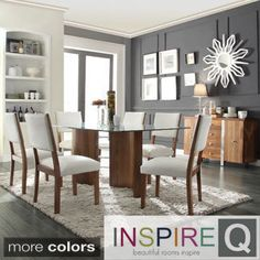 Nelson Industrial Modern Cross Back 7 piece Dining Set by TRIBECCA