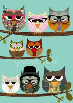Use the owl punch! owl love use pattern paper and decorative flowers for the eyes Owl Punch, Punch Art, Poster Collage, Poster Prints, Art Print, Owl Always Love You, Owl Crafts, Illustration, Owl Art