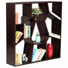 Gift your #books a neat and sturdy solid #BookCase, handcrafted with planked side walls  After all, aren't books your best friends?