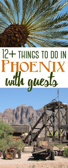 Feb 2020 - Phoenix is full of unique attractions for out of town visitors. Here are over a dozen things to do that will showcase Arizona's history to family and friends who may come to visit. Arizona Road Trip, Arizona Travel, Phoenix Arizona Attractions, Phoenix Things To Do, Pheonix Arizona, Goodyear Arizona, Visit Phoenix, Grand Canyon Tours, Arizona History