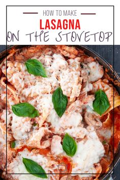 Easy to make stovetop lasagna recipe that's a family favorite!  This weeknight skillet meal tastes like classic lasagna but only takes 35 to make from start to finish. Sausage Lasagna, Italian Sausage Pasta, Sweet Italian Sausage, Easy Pasta Recipes, Best Dinner Recipes, Weeknight Meals, Pasta Dishes, Skillet, Stuffed Peppers