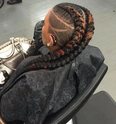 Box Braids Hairstyles, Kids Crochet Hairstyles, Shaved Side Hairstyles, Curly Hair Braids, Crochet Hair Styles, Curly Hair Styles, Natural Hair Styles, Nice Hairstyles, Braided Mohawk Hairstyles