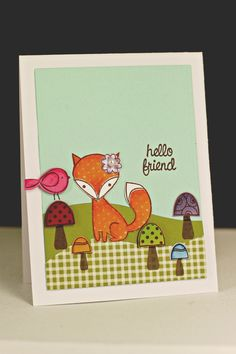 fox card Card - fox card #fox - Karte füchse - kort med ræv