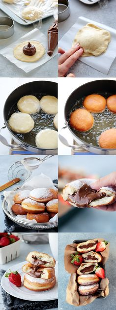 Pin on Essen Fun Baking Recipes, Sweet Recipes, Snack Recipes, Dessert Recipes, Cooking Recipes, Think Food, Love Food, Nutella Recipes, Köstliche Desserts