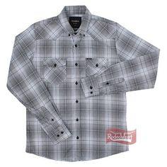 7fba089900 Camisa Masculina Xadrez Western 2 Bolsos Manga Longa - Tassa