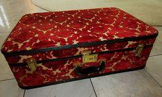 Vintage carpet bag suitcase.