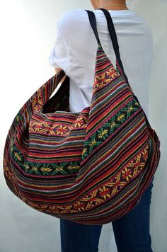 Handmade Woven Cotton Bag Hippie Hobo bag Shoulder by veradashop ...