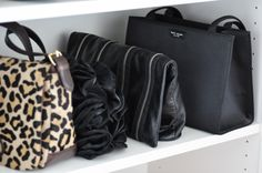 Great bedroom storage with IKEA's Billy Bookcases - cheap and easy! via http://lifeovereasy.com/ #clothes #shoes #organize