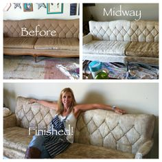 Couch transformation using Chalk paint ®