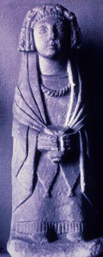Woman holding offering cup,  Cerro de los Santos, Montealegre del Castillo, Albacete. 400-100 BCE.