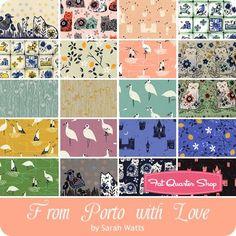 From Porto With Love Fat Quarter Bundle Sarah Watts for Cotton + Steel Fabrics - Fat Quarter Bundles   Fat Quarter Shop