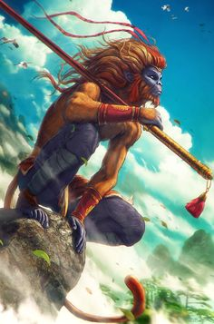 MONKEY KING Sun Wukong by Grafik Featured on Cyrail: Inspiring artworks that make your day better Mythological Creatures, Fantasy Creatures, Mythical Creatures, Dnd Characters, Fantasy Characters, Character Inspiration, Character Art, Journey To The West, Monkey King