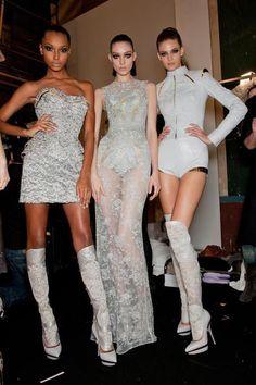 #backstage #models #versace