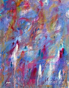 Blessings Print By Mary Mirabal #abstractart #fineart