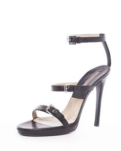 Michael Kors Triple-Buckle Sandal.