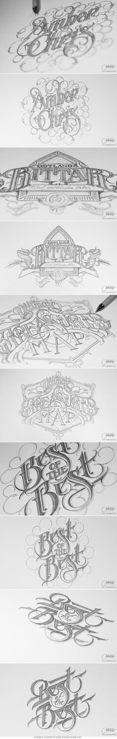 Hand lettering by Martin Schmetzer via Behance