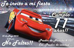 Invitaciones De Cumpleaños Cars En Hd Gratis Para Descargar 4  en HD Gratis