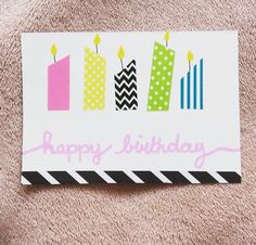 Happy birthday ! Handmade card @frenchylaura0412