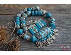 """Этно комплект """"Тибетские мотивы"""" - Товары для создания бижутерии - полимерная глина, фурнитура, бусины, подвески - BusinaShik"""