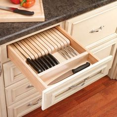 Add organization into your kitchen with this knife drawer insert.