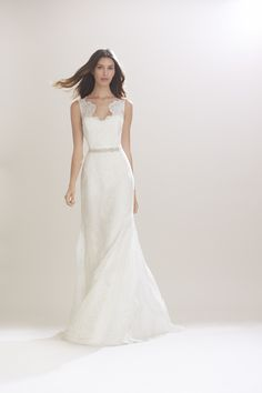 """""""A bride should be certain she has found a dress that makes her feel confident and above all else, beautiful.""""  For the Fall 2016 bridal collection, Carolina Herrera embraces calm elegance, evoking sensuality through transparency and illusion. fluid silhouettes with embellished intricate lace scallop necklines, where crystals and hand placed lace on organza, give …"""