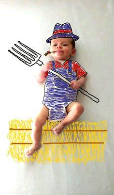 maman fait des dessins sur les photos de bebe 8   Maman fait des dessins sur les photos de bébé   photo image dessin bébé Ambre Wheeler