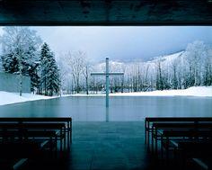Church on the Water (interior), Tomamu, Hokkaidō, Japan, 1988 Tadao Ando