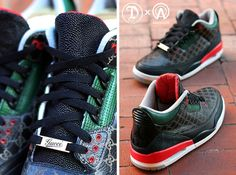 Dank Customs X Absolelute Air Jordan 3 (Gucci) - Sneaker Freaker b3d98d1bc