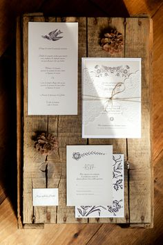 Rustic Invitations - Photo by Sonia Bourdon Photography for Bisou Bride - Montreal, Qc