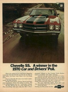 1970 Chevrolet Chevelle SS Advertisement Photo Picture