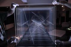 ░░░░ NICOLAS BERNIER ░░░░ frequencies (light quanta) ░░░░ Sound and light installation, 2014