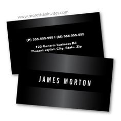Elegant, dark business cards. Masculine design for men. Maybe for a lawyer or an accountant.