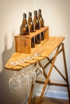 Recycled Antique Ironing Board Wine Bar by Simply Pallets on Etsy Follow us on Facebook at: www.facebook.com/…