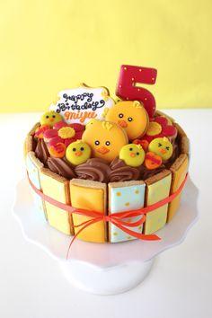 chick birthday cake