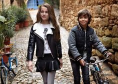 MAYORAL. Junior Collection. Autumn - Winter 2016. Young Fashion, Kids Fashion, Mode Lolita, Look Girl, Junior Fashion, Kind Mode, Cool Kids, Motorcycle Jacket, Fall Winter