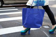 Blues courtesy of Alexander Wang and Celine