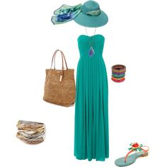 """The Perfect Outfit for the Perfect Day at Couples Tower Isle, Jamaica """"Caribbean Queen"""" by eballinger on Polyvore cheapcaribbean.com #CCLuxe"""