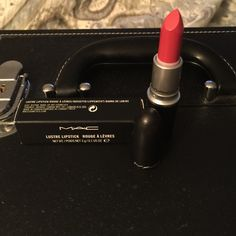 """MAC LE """"Call the Hairdresser"""" lipstick NIB 100% Authentic MAC """"Call the Hairdresser!""""  Described as a """"rosy mauve with a Lustre finish.  It's a muted, rosy coral with warm undertones and a soft sheen. It had semi-sheer color coverage. MAC Cosmetics Makeup Lipstick"""