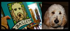 Bailey! Golden Doodle: Custom Pet Portrait by Anne Leuck Feldhaus http://AnnesArt.com