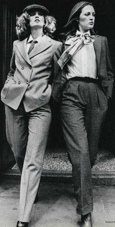 Die Boyfriend- Mode der Siebziger.