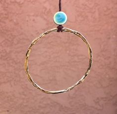 Something shiny for the beach!  E T E R N I T Y CIRCLE Large gold hammered circle by MandyLemig, $38.00