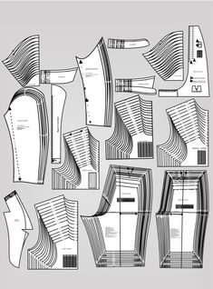 Jonatas Verly – Modelagem e Costura - Best Sewing Tips Clothing Patterns, Dress Patterns, Sewing Patterns, Dot Patterns, Pattern Ideas, Fabric Tape, Fabric Scraps, Sewing Hacks, Sewing Projects