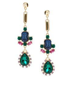 Agrandir ASOS - Boucles d'oreilles de luxe avec pierres fantaisie et pointes
