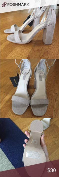 Nude suede heels Size 5.5 but definitely fits big like a size 6/6.5. Never worn Forever 21 Shoes Heels