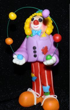 gum paste clown boy | Gum paste Clown with juggling balls | Gum Paste Flowers and Tutorials