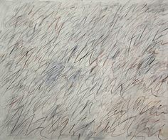 do scribbles mean nothing? i don't think so  ...painting by cy twombly