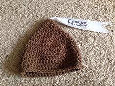 Crochet baby Hershey kisses hat
